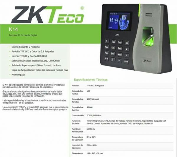 ZKTECO K14