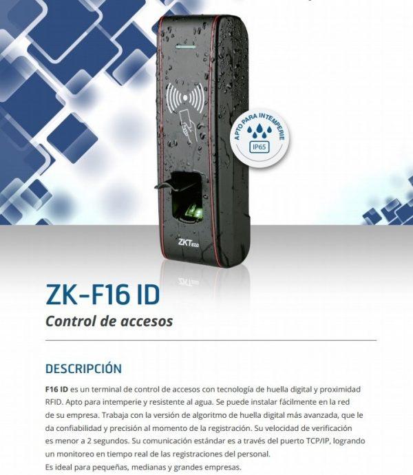ZKTECO ZK-F16